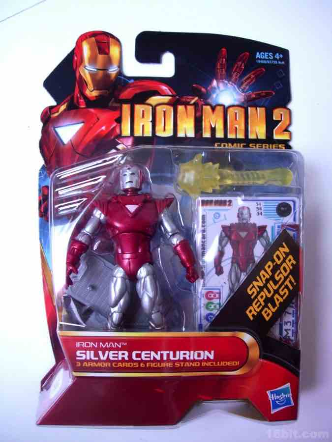 16bit.com Figure of the Day Review: Hasbro Iron Man Comic Series Silver Centurion Action Figure
