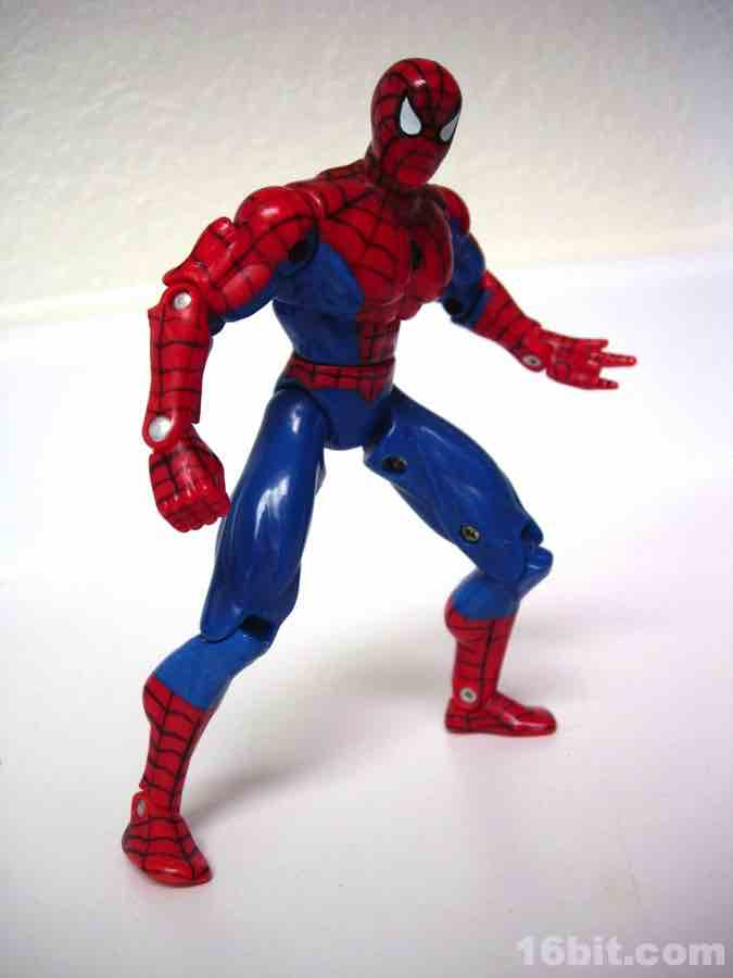Spider Man Toys : Bit figure of the day review toy biz spider man