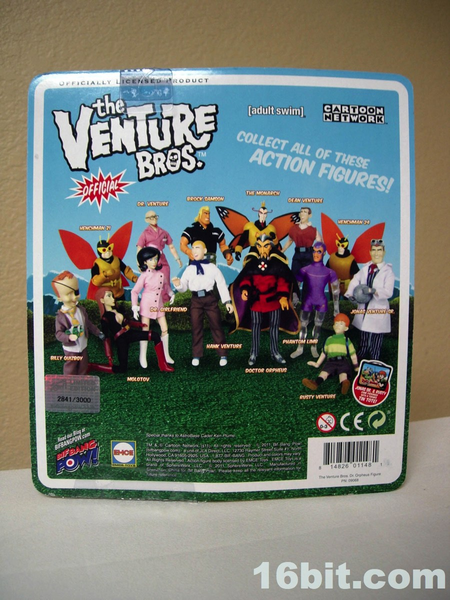 Bif Bang Pow!  Venture Bros.  Phantom Limb Action Figure.