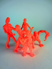 October Toys Zillions of Mutated Bodies Infecting Everyone (ZOMBIE) Series 1 Neon Orange Minifigures