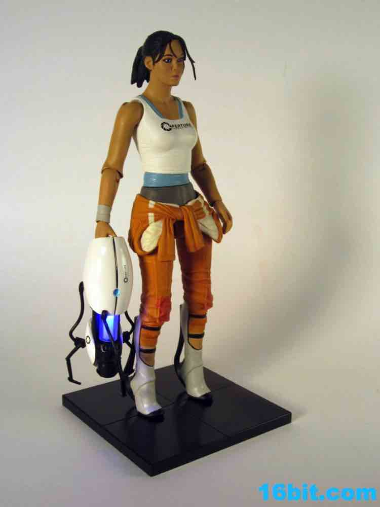 16bit Com Figure Of The Day Review Neca Portal 2 Chell