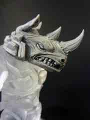 The GodBeast Customs Glyos Grey CyberRhino Head Glyos Accessory