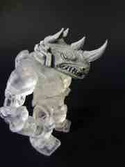 The GodBeast Customs Glyos Grey CyberRhino Head Glyos Accessory