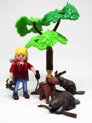 Playmobil 5562 Wild Life Beavers with Backpacker