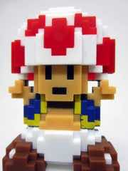 Jakks Pacific World of Nintendo 8-Bit Toad Variant Action Figure