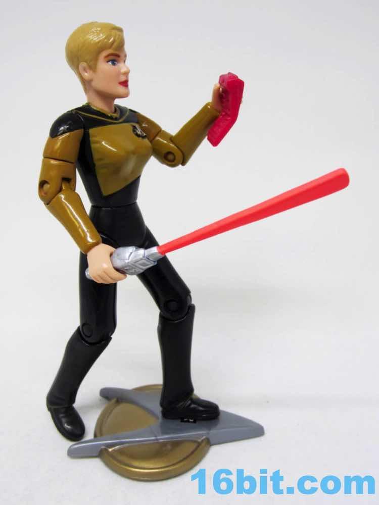 Figure Star Trek The Next Generation Lieutenant Tasha Yar GALOOB 3.75 IN environ 9.52 cm