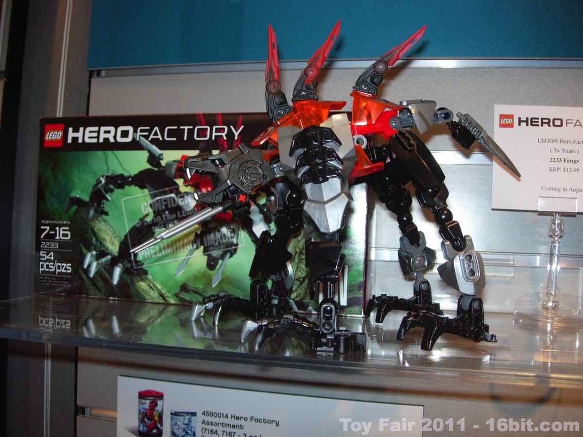 16bitcom Toy Fair Coverage Of Lego Hero Factory Action Figures And
