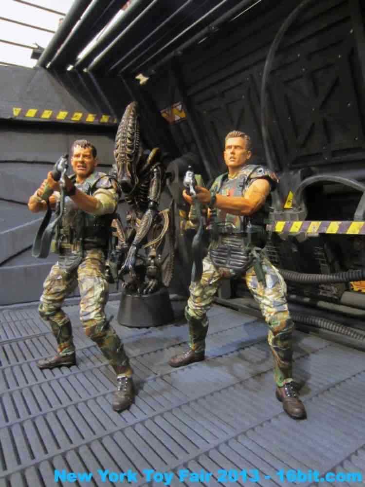 16bit com  toy fair coverage of aliens action figures from adam pawlus