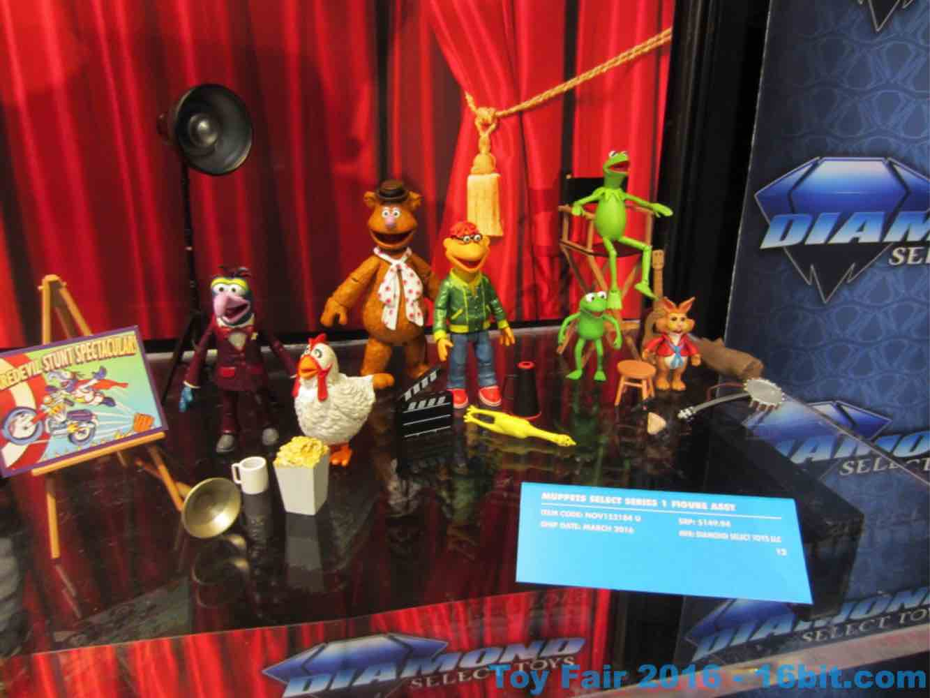 16bit com: Toy Fair Coverage of Diamond Select Toys Muppets